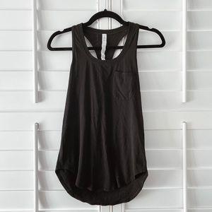 Lululemon Tank Top with pocket on chest. Black sz2